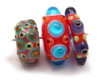 bright glass dot beads