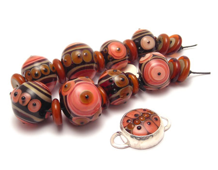 beads and silver clasp