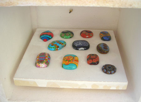 fused glass lampwork beads
