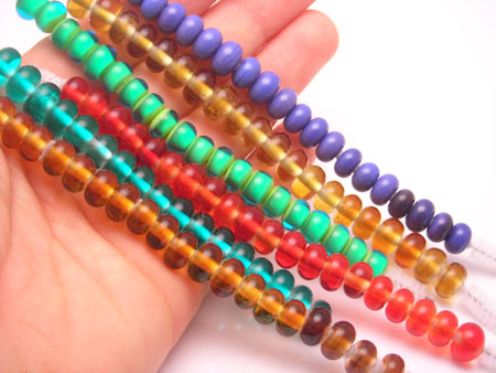 many glass spacer beads