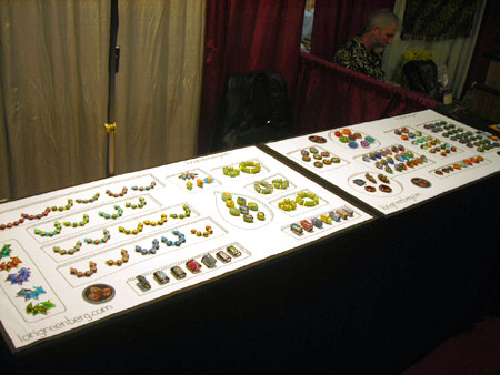 bead and button display