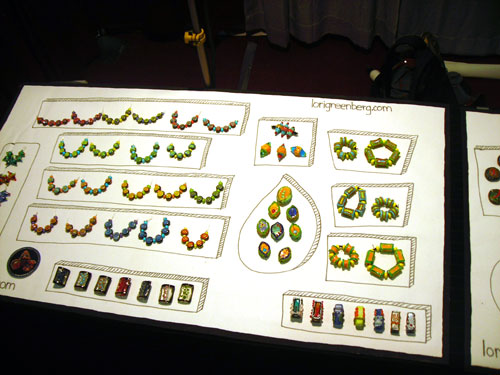 bead and button canvas display