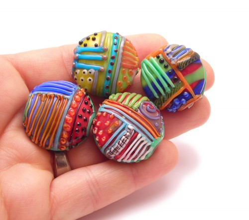 glass patchwork beads