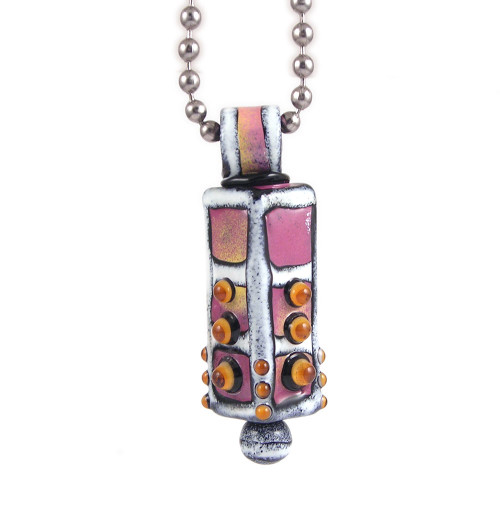 lori greener glass enamel pillar pendant