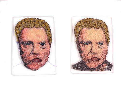 Christopher Walken glass micro mosaic