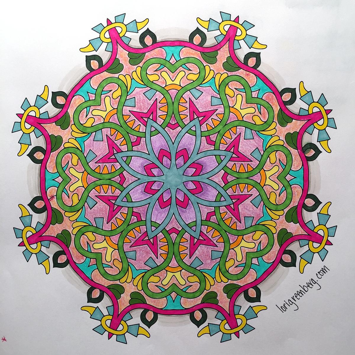Mandala Adult Coloring Image