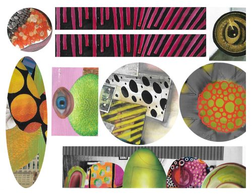 image of collage elements sheet