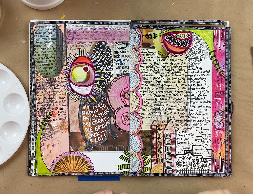 photo of colorful art journal