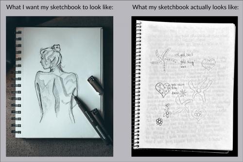 sketchbook drawing comparison