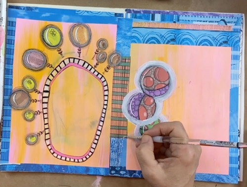 painting in art journal