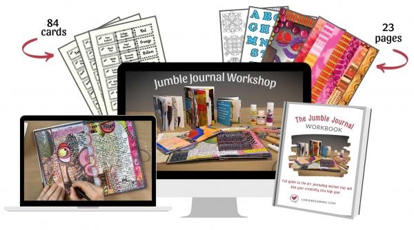 art journal workshop graphic