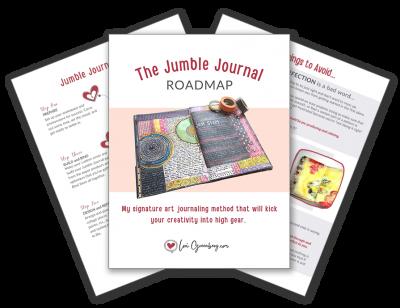 mock up image of downloadable art journaling roadmap